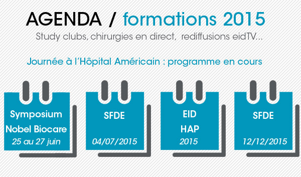 agenda formation en implantologie dentaire