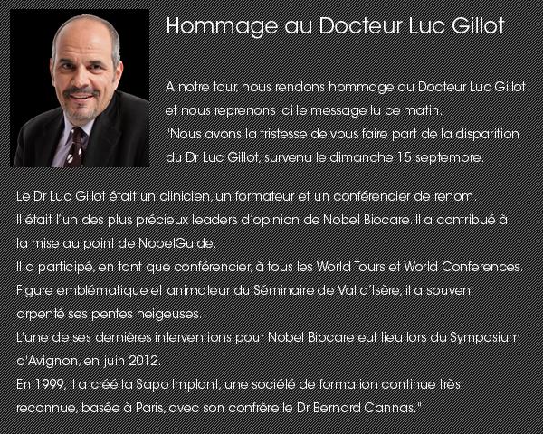 hommage à Luc Gillot