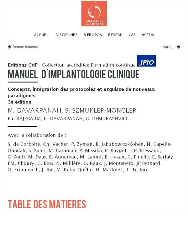 chirurgie implantaire